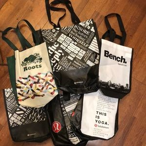 Lululemon and other reusable bags